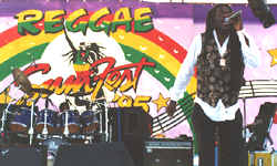 Dennis Brown on stage at Reggae SumFest 95
