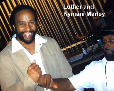 Luther Mack with Kymani Marley