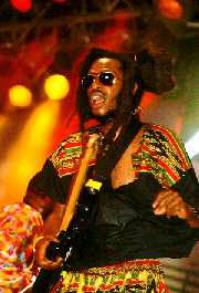 Steel Pulse's David Hines at Reggae SumFest '95