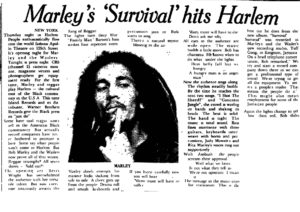 Bob Marley & The Wailers in Harlem at The Apollo Theatre