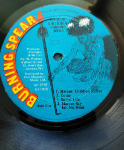 Burning Spear album label
